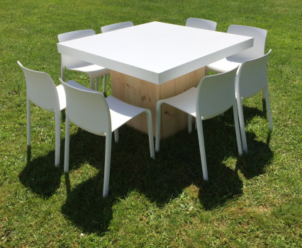 Woodland Low Square Table White