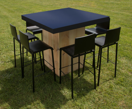 Woodland Square Table Black